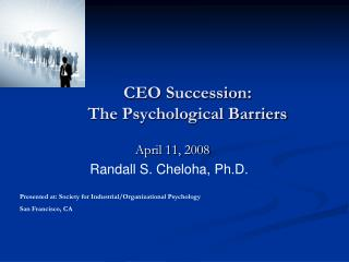CEO Succession: The Psychological Barriers