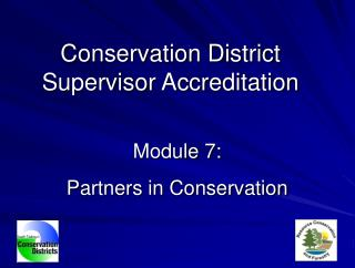 Module 7: Partners in Conservation