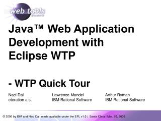 Java™ Web Application Development with Eclipse WTP - WTP Quick Tour
