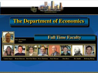 The Department of Economics