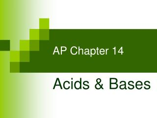 AP Chapter 14