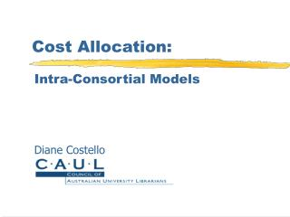 Cost Allocation: