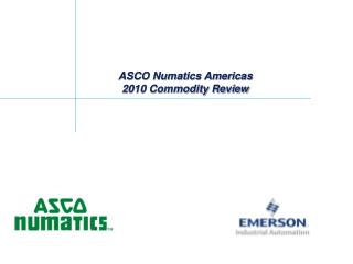 ASCO Numatics Americas 2010 Commodity Review