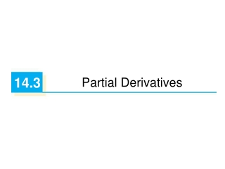 8.3  Partial Derivatives