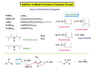 Addition of Metal-H bonds to Carbonyl Groups