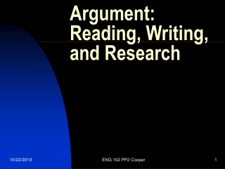 Argument: Reading, Writing, and Research