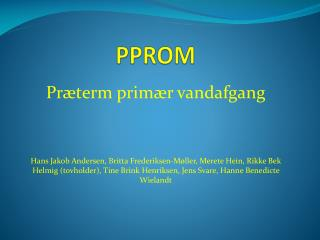 PPROM