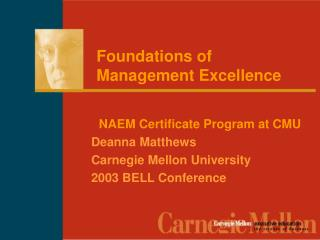 Foundations of Management Excellence