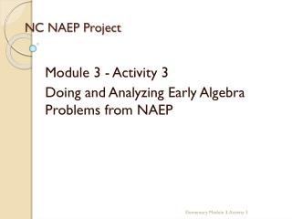 NC NAEP Project