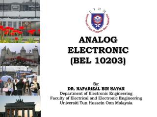 ANALOG ELECTRONIC  (BEL 10203)