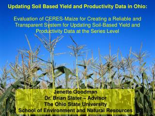 Updating Soil Based Yield and Productivity Data in Ohio: