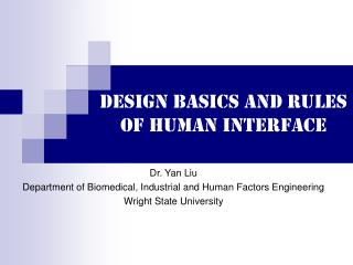 Design basics and rules of human interface