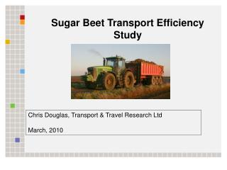 Sugar Beet Transport Efficiency Study