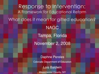 Response to Intervention: A Framework for Educational Reform
