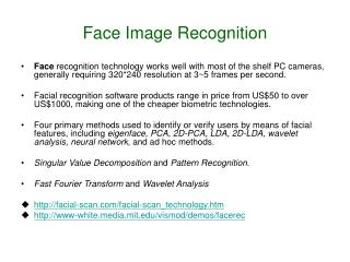 Face Image Recognition