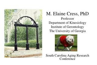 M. Elaine Cress, PhD Professor Department of Kinesiology Institute of Gerontology