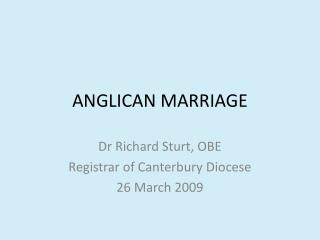 ANGLICAN MARRIAGE