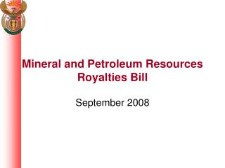 Mineral and Petroleum Resources Royalties Bill