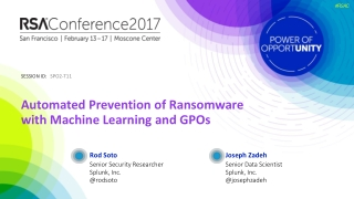 Automated Prevention of Ransomware with Machine Learning and GPOs