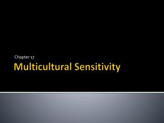 Multicultural Sensitivity