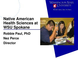Native American  Health Sciences at  WSU Spokane