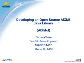Developing an Open Source AIXM5 Java Library (AIXM-J)