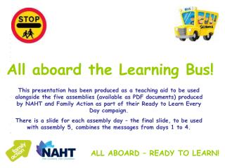 ALL ABOARD – READY TO LEARN!