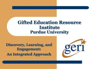 Gifted Education Resource Institute Purdue University