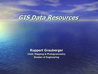 GIS Data Resources