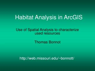 Habitat Analysis in ArcGIS