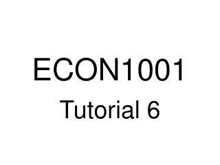 ECON1001