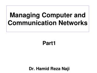 Managing Computer and Communication Networks