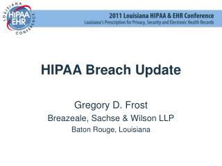 HIPAA Breach Update