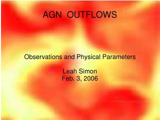 AGN  OUTFLOWS