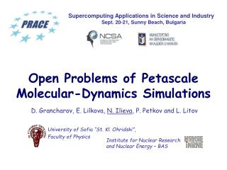 Open Problems of Petascale Molecular-Dynamics Simulations
