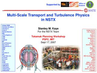 Multi-Scale Transport and Turbulence Physics in NSTX