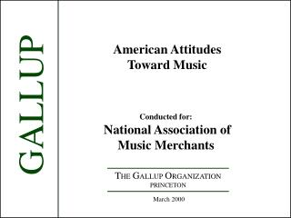 American Attitudes Toward Music