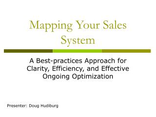 Mapping Your Sales System