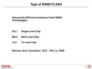 Type of NAND FLASH