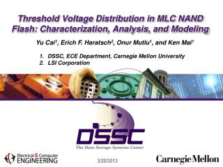 Threshold Voltage Distribution in MLC NAND Flash: Characterization, Analysis, and Modeling