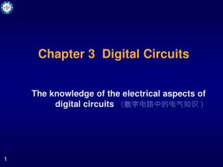 Chapter 3  Digital Circuits