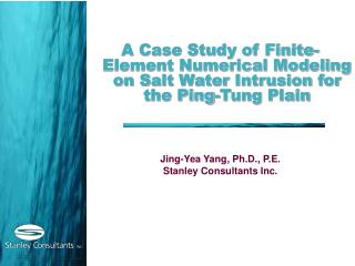 A Case Study of Finite-Element Numerical Modeling on Salt Water Intrusion for the Ping-Tung Plain