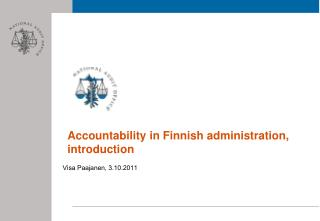 Accountability in Finnish administration, introduction