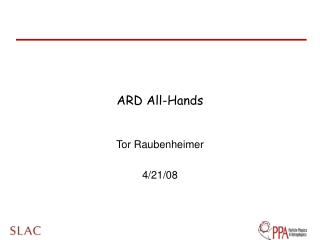 ARD All-Hands