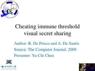 Cheating immune threshold visual secret sharing