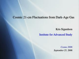 Cosmic 21-cm Fluctuations from Dark-Age Gas