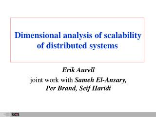 Dimensional analysis of scalability of distributed systems