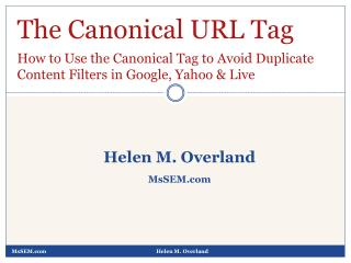 How to Use the Canonical URL Tag to Avoid Duplicate Content