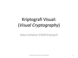 Kriptografi Visual: ( Visual Cryptography )
