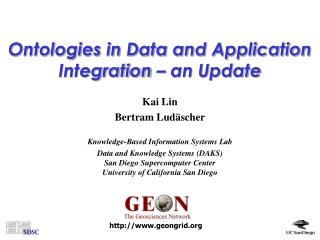 Ontologies in Data and Application Integration – an Update